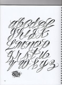 Calligraphy Discover Big Sleeps: Letters To Live By Lettering Tattoo Lettering Alphabet, Tattoo Lettering Design, Tattoo Fonts Cursive, Chicano Lettering, Lettering Guide, Graffiti Lettering Fonts, Hand Lettering Fonts, Caligraphy Alphabet, Font Alphabet