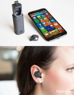 The Moto Hint, Motorola's tiny wireless earbud, lets you control your smartphone with your voice and get bite-sized Google Now information served into your ear.
