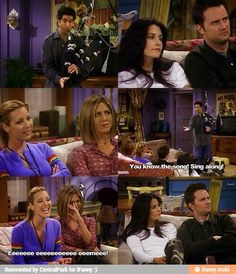 Ross playing bagpipes. #friends