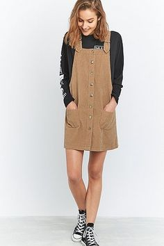 new products 5c93d fbb06 Urban Outfitters Robe, Corduroy Pinafore Dress, Urban Dresses, Button Front  Dress, Winter