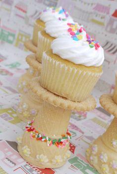 joli décor avec des cup cakes