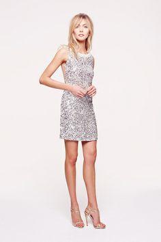 Silver Sequins Sleeveless Dress -  Collette Dinnigan