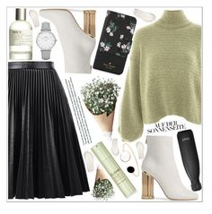 """""""style"""" by lena-volodivchyk ❤ liked on Polyvore featuring Topshop, Salvatore Ferragamo, Elemis, Le Labo, S'well, CLUSE and Kate Spade"""