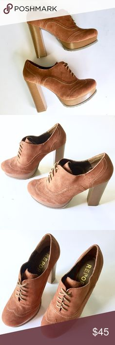 NWOB Report Brown Suede Leather Oxford Platforms Up for sale NWOB Report Oxford Platform Oxford Lace up Suede Leather Heels. Size 9. Check out my closet, bundle and give me your offer! Report Shoes Ankle Boots & Booties