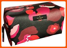 Kate Spade Medium Davie Laurel Way Printed Floral Cosmetic Make-up Travel Bag Case - Dont forget to travel (*Amazon Partner-Link)