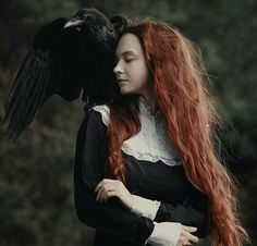 Welcome to Wicca Now lovelies! Join us on our journey as we explore the wonderful world of Wicca. Learn about spell casting, Wiccan rituals and magic. Fantasy Photography, Portrait Photography, Fotografie Portraits, Rabe, Witch Aesthetic, Foto Art, Drawing Poses, Dark Art, Red Hair