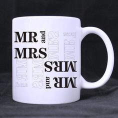 Funny His and Hers,Mr and Mrs best Custom White Mug -- Trust me, this is great! Click the image. : Cat mug