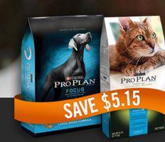 High-Value Purina Pro Plan Dog or Cat Food Coupon - Save $5.15!