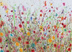 Magical You is an original artwork by UK Flower Artist Yvonne Coomber using oil paint on a canvas surface #flowerart #wallart #oilpainting #artforinteriors