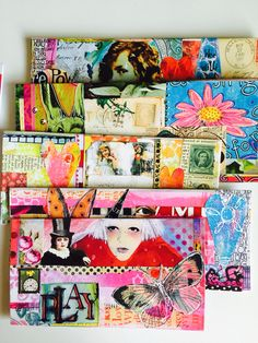 Mail Art Envelopes by Kim Collister Imgirl.Etsy.com