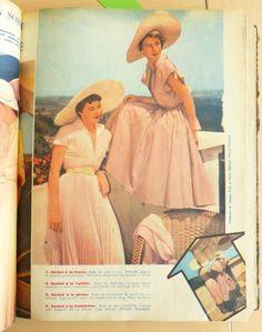La robe rose : 1949, Jean Chevalier pour @Elle France