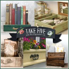 5 Unique Upcycled Drawer Projects SEPTEMBER 5, 2013 BY ANDREA 4 COMMENTS Everyone that visits The Cottage Market regularly knows that I am c...