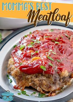 Momma's Best Meatloaf recipe is full of flavor and is moist and scrumptious! It's simple to make and comes out perfect every time! Meatloaf Recipe Video, Meatloaf Recipes, Meat Recipes, Vegetarian Recipes, Cooking Recipes, Hamburger Recipes, Recipies, Supper Recipes, Appetizer Recipes