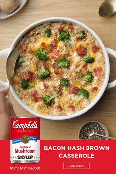 New Recipes, Dinner Recipes, Cooking Recipes, Favorite Recipes, Healthy Recipes, Dinner Ideas, Campbells Soup Recipes, Bacon Hash, Cooking Cream