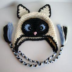 crochet cat hat pattern - Google Search
