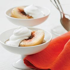 Vanilla and Riesling Poached White Peaches Recipe