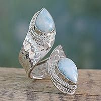 Pandora Jewelry OFF!>> Wrap Style Ring in Sterling Silver with Larimar Gems - Dreamy Duo Silver Necklaces, Sterling Silver Bracelets, Silver Earrings, Silver Ring, 925 Silver, Bangle Bracelets, Earrings Uk, Bracelet Charms, Hammered Silver