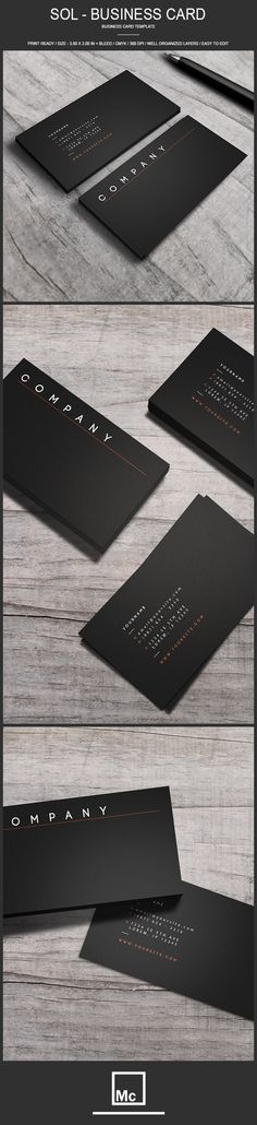 Sol - Business Card Template by Macrochromatic, via Behance
