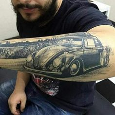 Retro car tattoo