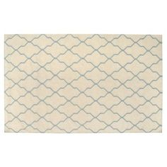 Check out this item at One Kings Lane! Cleo Flat-Weave Rug, Beige/Sky