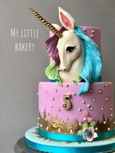 Unicorn cake – cake by Sandra Draskovic – CakesDecor Pastel de unicornio – pastel de Sandra Draskovic – CakesDecor Cute Cakes, Pretty Cakes, Indian Cake, Animal Cakes, Salty Cake, Birthday Cake Girls, Birthday Diy, Girl Cakes, Savoury Cake
