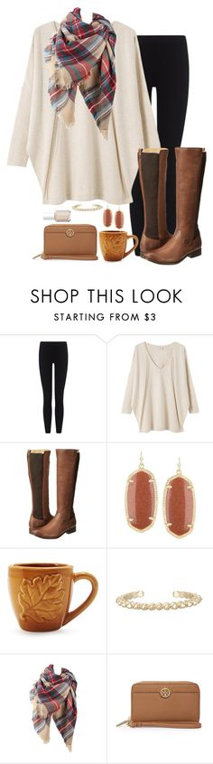"""""""apple picking"""" by marycoulbourn ❤ liked on Polyvore featuring James Perse, EAST, Frye, Kendra Scott, Sur La Table, Tory Burch and Essie"""