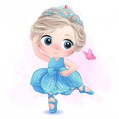 Ballerina Illustration, Crown Illustration, Giraffe Illustration, Watercolor Illustration, Cute Cartoon Wallpapers, Cartoon Pics, Watercolor Lion, Cute Snake, Bird Poster