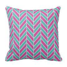 Herringbone Pattern Throw Pillows