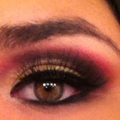 Red and gold smokey eye Gold Smokey Eye, Eyes, My Style, Cat Eyes