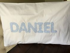 Applique pillow case Daniel