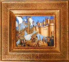 Mathilda de Carpentry - Peinture sous verre - Saint Louis Saint Louis, Oriental, Painting, Glass, Frame, Artist, Crafts, How To Paint, Paint