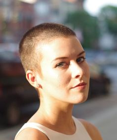 Buzzcut Haircut - Short Hair Advice | One writer opens up about her buzzed haircut. #refinery29 http://www.refinery29.com/getting-a-buzzcut