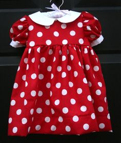 Custom boutique classic Minnie Mouse red polka dot by ChicFabrique, $40.00