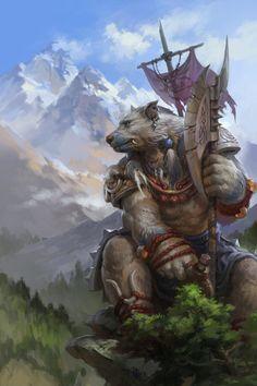 """Ver Original """"Spirit Bear Guard"""", tamaño Original: 800x1200"""