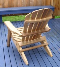 Amazon.com : Folding Cedar Adirondack Chair With Ottoman, Amish Crafted :  Folding Cedar