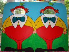 Tweedle Dee and Tweedle Dum Photo Prop  Alice in by BlueGardenias, $95.00