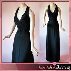 Vintage 1960s FAB MOD LBD Halter Neck Twiggy 'A' Line Evening Maxi Dress #mod  http://www.ebay.co.uk/itm/Vintage-1960s-FAB-MOD-LBD-Halter-Neck-Twiggy-A-Line-Evening-Maxi-Dress-UK10-/371643123808?ssPageName=STRK:MESE:IT
