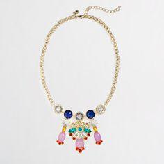 Fun Necklace  Factory multicolor chandelier necklace - J.Crew Factory