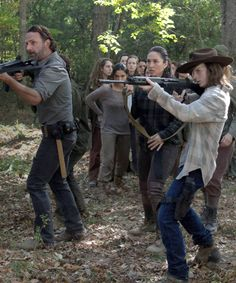 """"""" Rick and Carl Grimes in The Walking Dead Season 7 Episode 15 