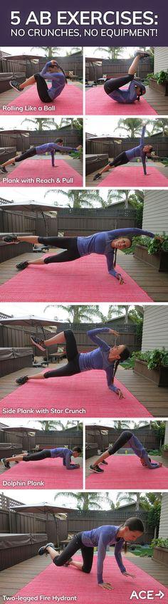 5 Ab Exercises: No Crunches, No Equipment