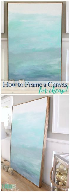 to Frame a Canvas (for Cheap No WAY! This is such an easy (and cheap!) way to frame out a canvas. This is such an easy (and cheap!) way to frame out a canvas. Diy Wand, Halloween Dekoration Party, Diy Projects To Try, Art Projects, Mur Diy, Cuadros Diy, Painting Techniques, Art Tutorials, Painting Inspiration