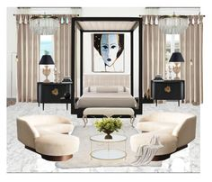 """Sans titre #322"" by jjjjkuyuoi on Polyvore featuring interior, interiors, interior design, maison, home decor, interior decorating, nuLOOM, Noir, Bernhardt et Chelini"