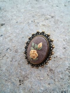 Unique gifts for mother Yellow rose ring Vintage style Cocktail ring Unique rings for women Cute jewelry