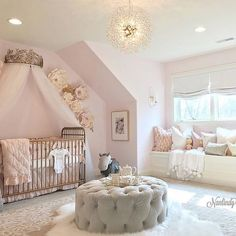 Remember this gorgeous nursery designed by LINDA DANIELS? Well s… Hello friends! Remember this gorgeous nursery designed by LINDA DANIELS? Well she entered it in a nursery photo contest and it absolutely… Girl Nursery Colors, Baby Girl Nursery Themes, Baby Room Decor, Nursery Room, Princess Nursery Theme, Nursery Decor, Baby Rooms, Rose Nursery, Baby Girl Bedroom Ideas
