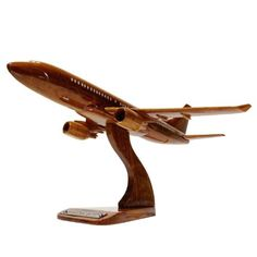 New Moc Pro BOEING B737 Wooden Handmade Airplane Model MADE IN JAPAN! L size 255 #MocPro