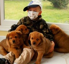 Michael was diagnosed with childhood cancer at age 3. He pulled through some of the toughest moments through the love of dogs.