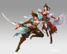 Fantasia e artes marciais chinesas nas ilustrações de Guangjian Huang