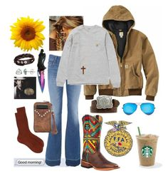 """""""Those good morning texts!"""" by emwhite33 ❤ liked on Polyvore featuring Givenchy, J Brand, Carhartt, Ray-Ban and Forever 21"""
