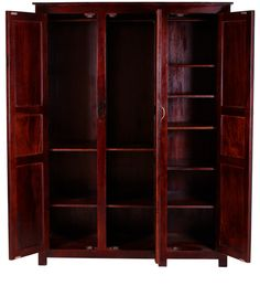 Cayenne Stylish Wardrobe with Three Doors in Passion Mahogany finish by Woodsworth by Woodsworth Online - Contemporary - Furniture - Pepperfry Product