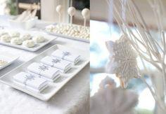 Weihnachtsserne weiße Tischdeko
